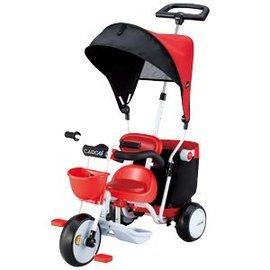 【淘氣寶寶】日本 IDES 三輪車 Cargo Plus 超大置物箱三輪車 (紅)【贈阿久師-米香鬆一盒】