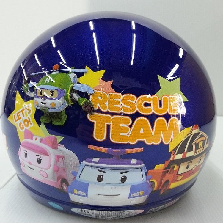 *小騎士*波利(Poli)3/4安全帽附鏡片 兒童安全帽