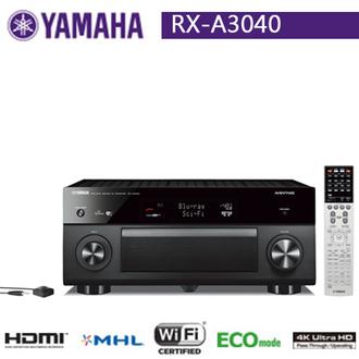 YAMAHA RX-A3040 AVENTAGE 系列 9聲道影音擴大機 4K 公司貨 0利率 免運