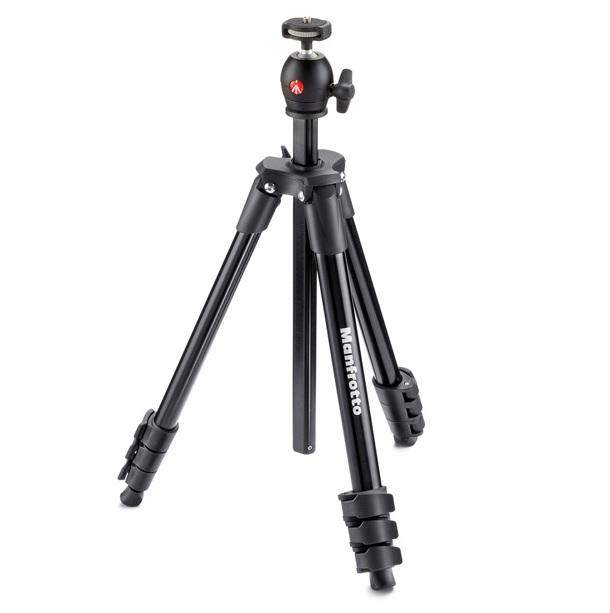 【普羅相機】MANFROTTO Compact 輕巧旅行腳架 (黑色)