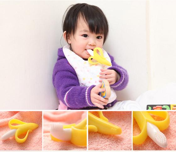安全香蕉牙刷固齒器