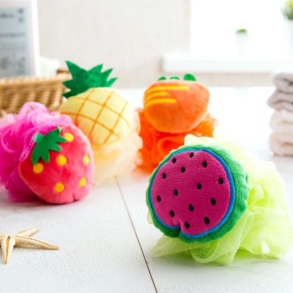 PS Mall 水果造型洗浴用品起泡澡花浴擦可愛沐浴花沐浴球【J1500】