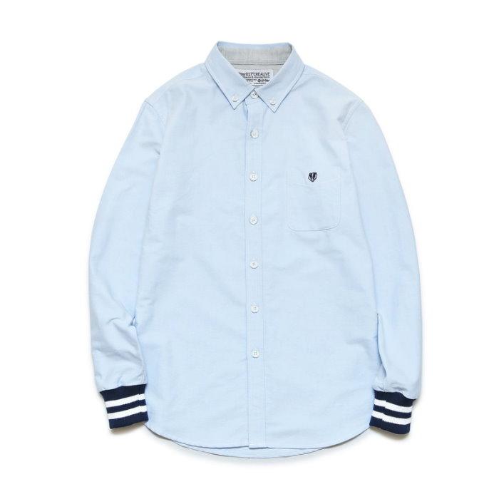 ►法西歐_桃園◄ Filter017 Oxford Rib Shirt 牛津羅紋襯衫 黑白袖口 藍色 灰 長袖 淺藍