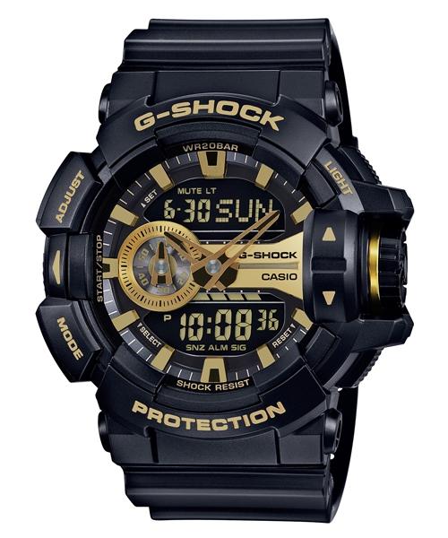 國外代購 CASIO G-SHOCK GA-400GB-1A9 雙顯 運動防水手錶腕錶電子錶男女錶 黑金
