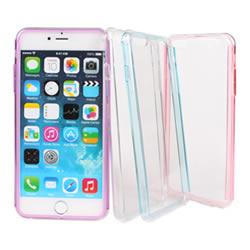 Ultimate- iPhone  6 plus (5.5) 彩邊全透明 硬質超薄手機外殼防摔抗震後背蓋保護殼 清水套 透明殼 透明硬殼