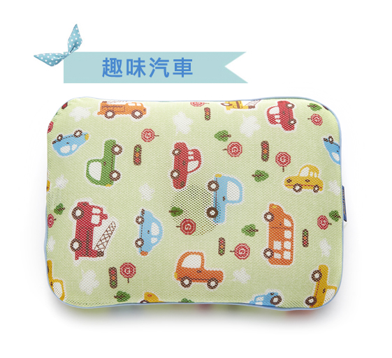 ★衛立兒生活館★韓國GIO Pillow 超透氣護頭型嬰兒枕頭【趣味汽車-單枕套組-S號/M號】新生兒~2歲以上適用