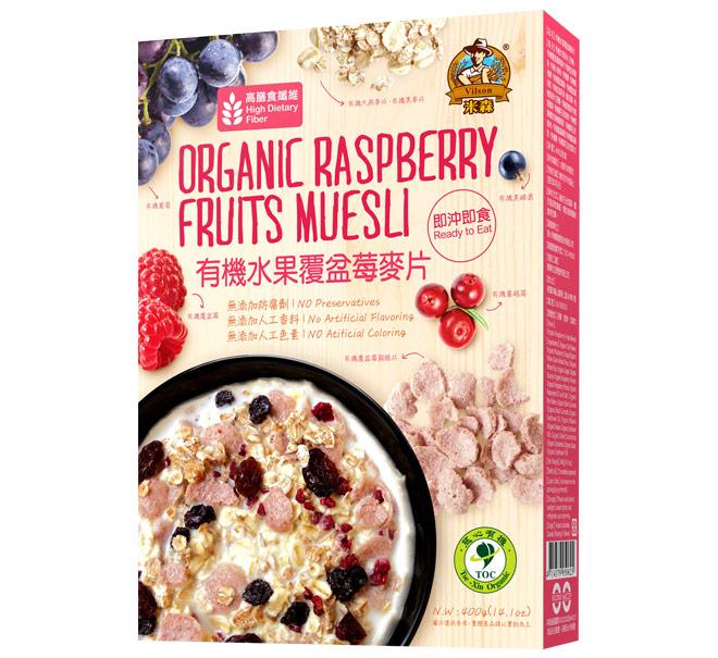 米森 有機水果覆盆莓麥片  400g