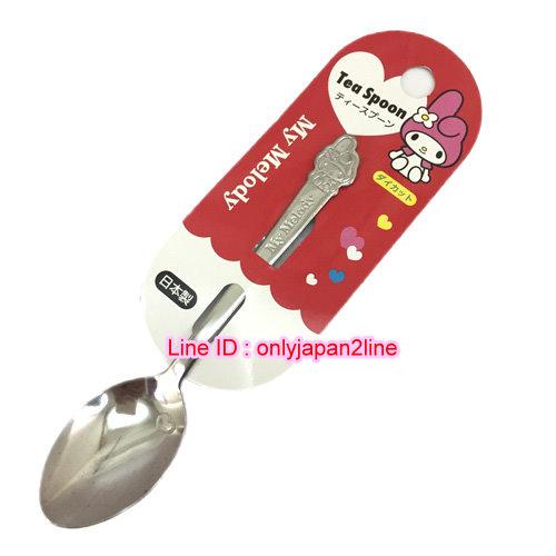 【真愛日本】16110500005日本製不鏽鋼-美樂蒂小湯匙   三麗鷗家族 Melody 美樂蒂  湯匙 叉子 餐具 日本製