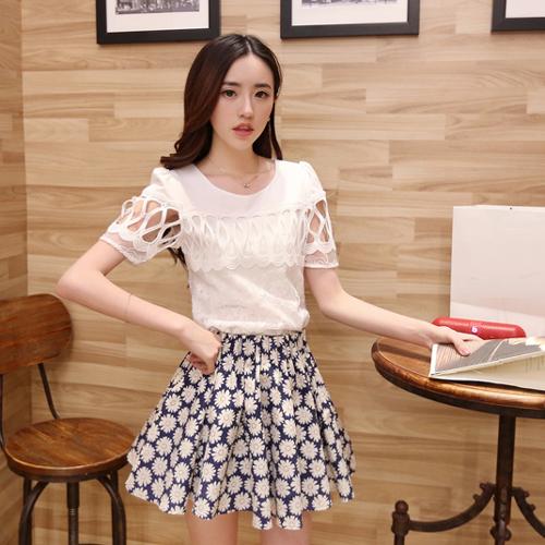 YJY甜美縷空袖蓬蓬裙質感套裝[81011]-全尺碼