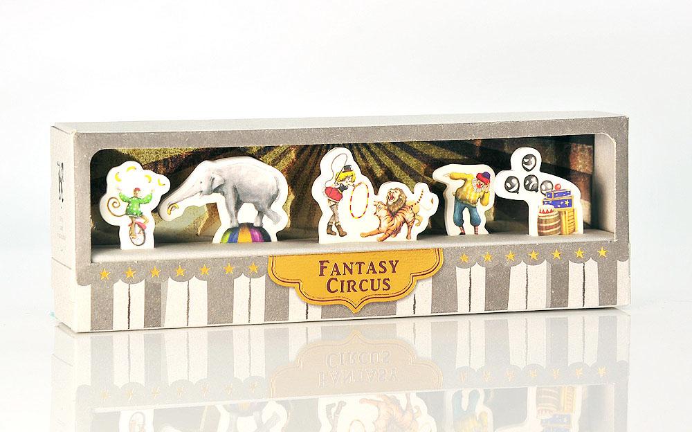 【Miccudo】奇幻 馬戲團 大象 小丑 猴子 表演 索引貼 書籤 《復古風 激勵禮 》(6款*各20張)