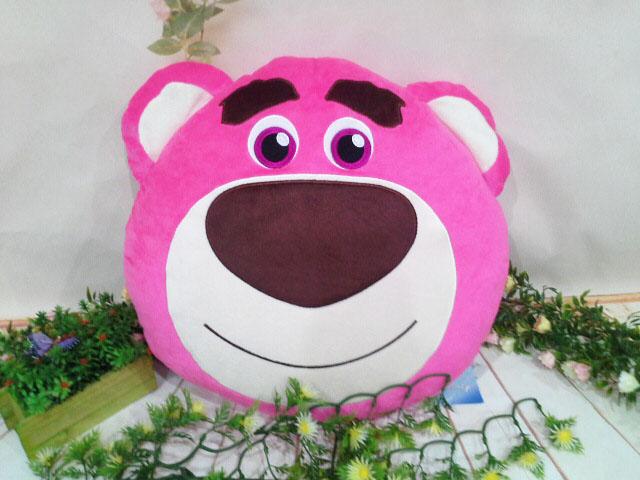 ~*My 71*~    絨毛娃娃 18吋 熊抱哥頭型抱枕  40CM 大型 玩偶 抱枕 車枕  兒童 玩具 情人 禮物