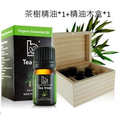 【小資屋】澳洲Bonnie House 茶樹精油 5ml+精油木盒*1效期:2026.9.18