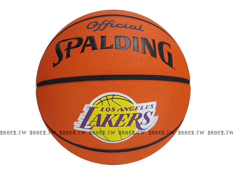 【SPA83248】斯伯丁籃球 SPALDING 隊徽球 室外基本款 林書豪 Jeremy 簽名球 湖人隊