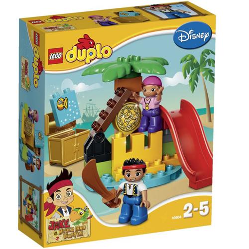 樂高積木LEGO《 LT10604》2015 年Duplo 得寶幼兒系列 - 傑克與夢幻島之海盜與珍寶島