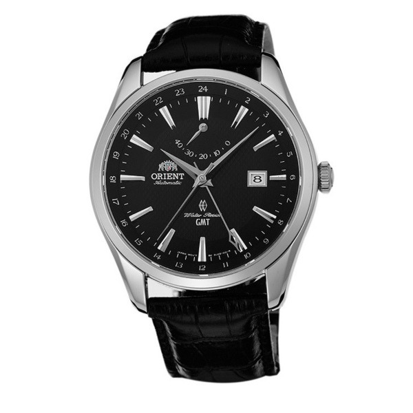 Orient 東方錶(SDJ05002B)GMT動力顯示機械腕錶/黑面42mm