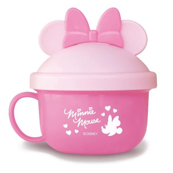 ★衛立兒生活館★日本 迪士尼 Disney 米妮外出副食品餵食碗(附湯匙)~粉色