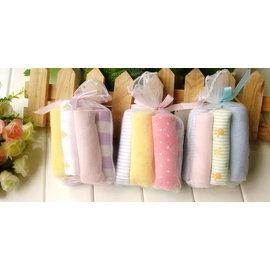 *彩色童話*美單8條一組小毛巾 超柔軟小方巾/喂奶巾/洗澡巾,8條一組