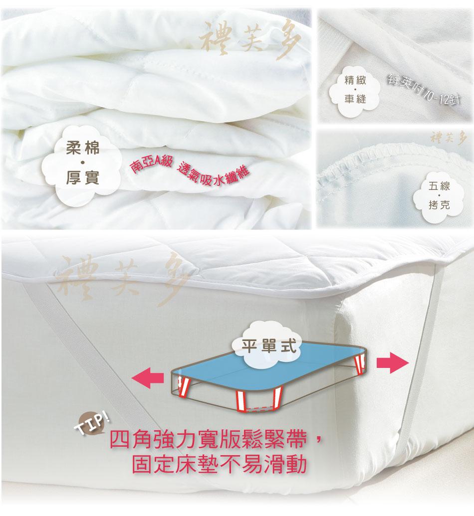 【Honey Home x 禮芙多】單人防水保潔塾(6尺*6.2尺) - 防潑抗髒,強效防水,耐清洗