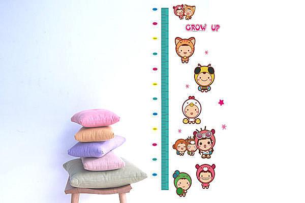 BO雜貨【YP1851】可移動壁貼 牆貼/身高尺壁貼/兒童壁貼 兒童房設計 娃娃身高尺