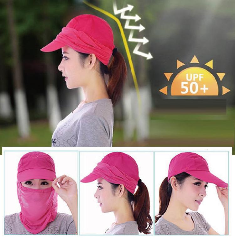新款 抗UV高防曬護頸遮陽帽 360度防曬帽 戶外登山防曬 防蚊 清涼 護頸 遮陽帽