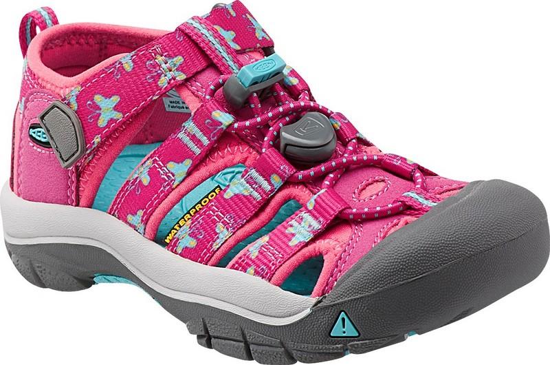 [ KEEN ] 涼鞋/運動涼鞋/護趾涼鞋/拖鞋 Newport H2 童款 1014250 桃紅印花/台北山水