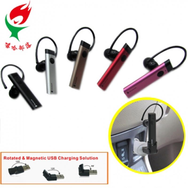 【迪特軍3C】【雙待機】鋁合金入耳式藍牙耳機(SBH-023RT) 360度旋轉耳掛 USB充電底座