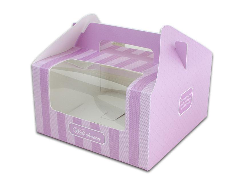 外帶盒、包裝盒、手提盒  4格提盒 MS-4-A(紫色布紋)5 pcs附底托