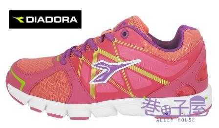 【巷子屋】義大利國寶鞋-DIADORA迪亞多納 女童瓢蟲飛輕量慢跑鞋 [2712] 粉 超值價$693
