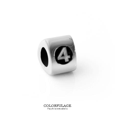 組合字母串珠手鍊 手作搭配組合數字4手環 柒彩年代【NT5】CHARMS