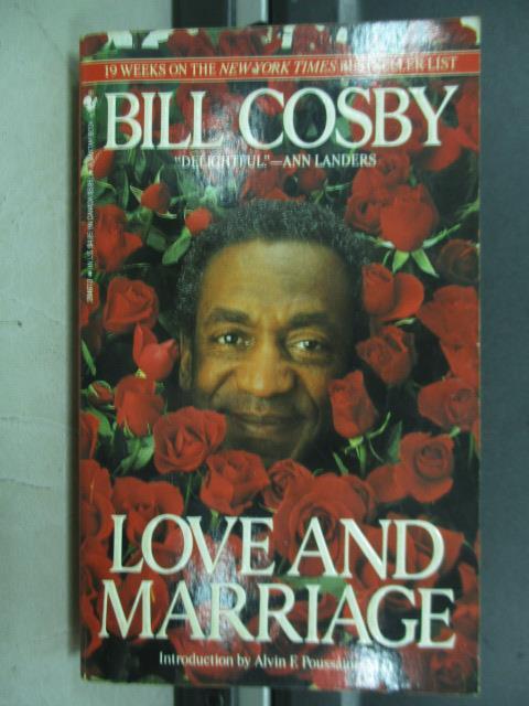【書寶二手書T5/原文小說_JAP】Love and marriage_Bill cosby