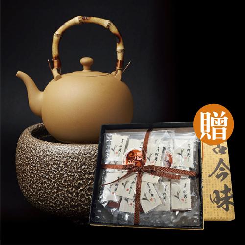 【鶯歌壺具組】活性陶茶壺+遠紅外線加熱爐贈送茶包伴手禮盒