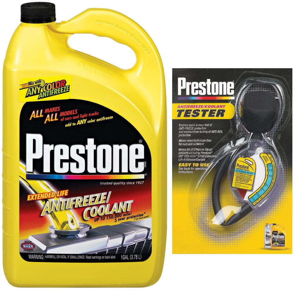 Prestone百適通濃縮全合成長效防凍冷卻液AF2000+百適通水箱精濃度檢測器 AF-1420