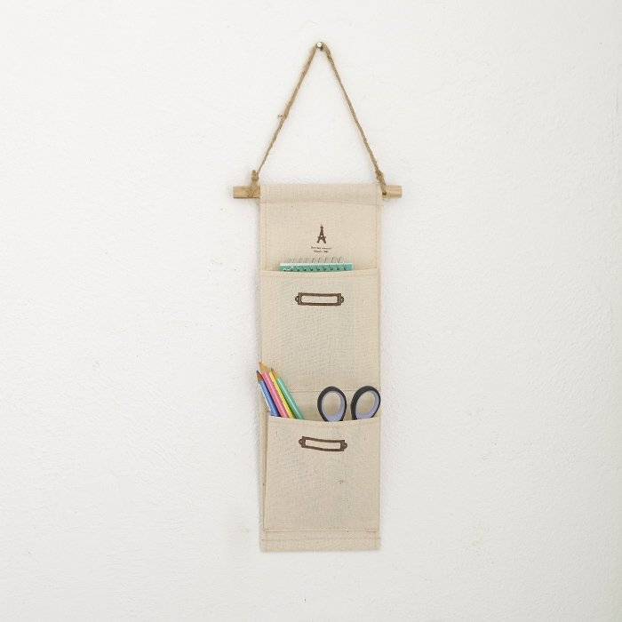 BO雜貨【SV6313】 zakka 日系棉麻收納掛袋 吊掛式雜物收納袋