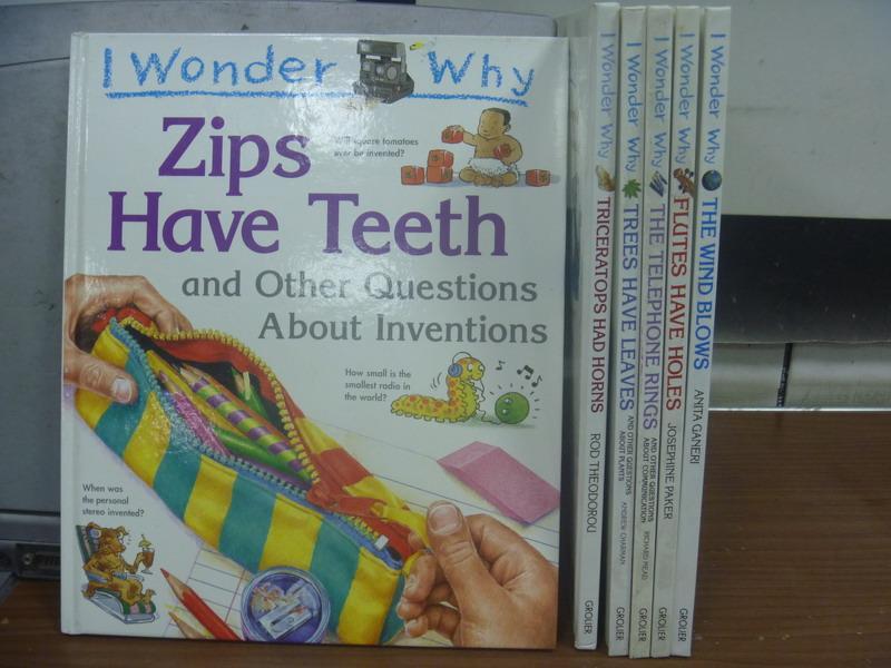【書寶二手書T7/原文書_RBM】I Wonder Why系列-Zip have teeth等_共6本合售