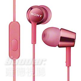 【曜德視聽】SONY MDR-EX150AP 粉色 時尚金屬 支援智慧型手機 免持通話 ★免運★送收納盒★