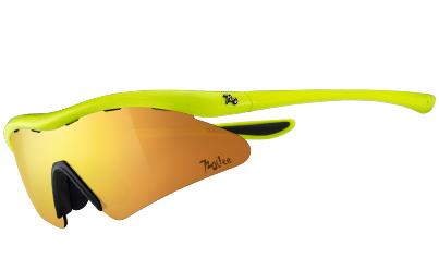 720armour Rider 運動太陽眼鏡 T337Lite-2 螢光黃框全面金多層鍍膜防爆PC片