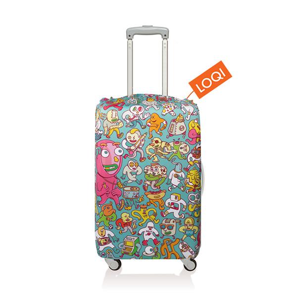 【加賀皮件】LOQI 行李箱套(S)-藝術系列 彈性伸縮可收納 旅行箱套 LQL005-S