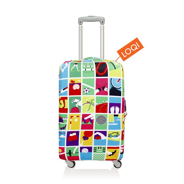 【加賀皮件】LOQI 行李箱套(L)-藝術系列 彈性伸縮可收納 旅行箱套 LQL005-L