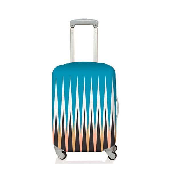 【加賀皮件】LOQI 行李箱套(S)-幾何系列 彈性伸縮可收納 旅行箱套 LQL004-S