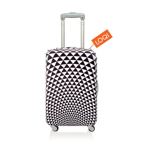 【加賀皮件】LOQI 行李箱套(S)-摩登系列 彈性伸縮可收納 旅行箱套 LQL003-S