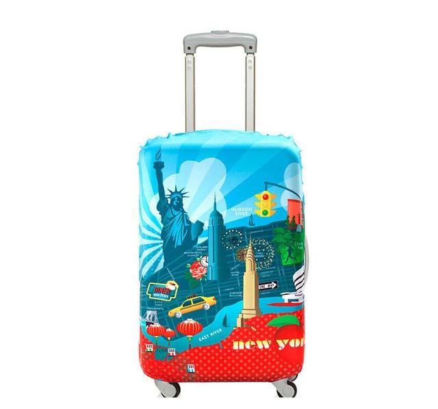 【加賀皮件】LOQI 行李箱套(S)-城市系列 彈性伸縮可收納 旅行箱套 LQL001-S