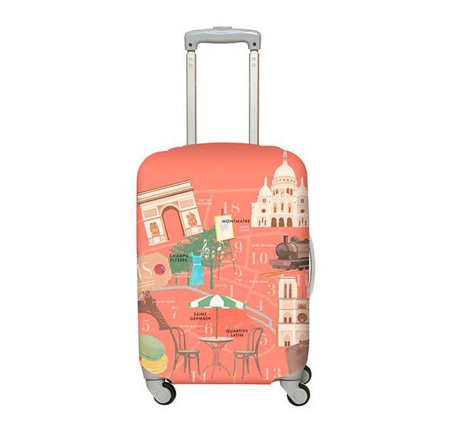 【加賀皮件】LOQI 行李箱套(M)-城市系列 彈性伸縮可收納 旅行箱套 LQL001-M