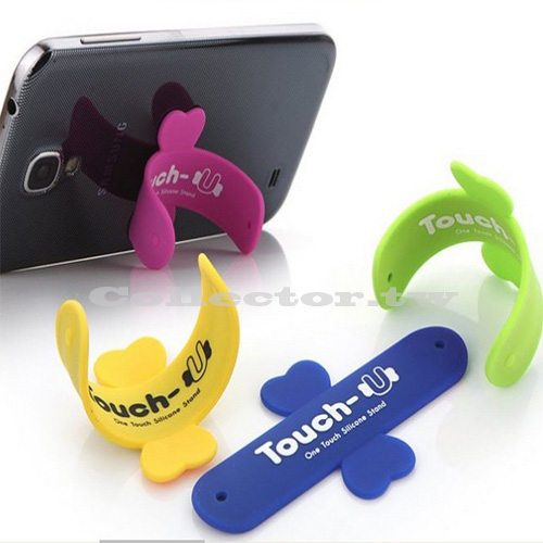 【K15111801】韓國新款Touch-U矽膠手機拍拍圈支架 iphone拍拍懶人U型支架