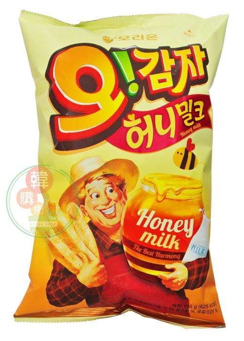 【韓購網】韓國好麗友OH!蜂蜜馬鈴薯條115g★濃郁奶香,蜜味香甜★Orion韓國餅乾零食