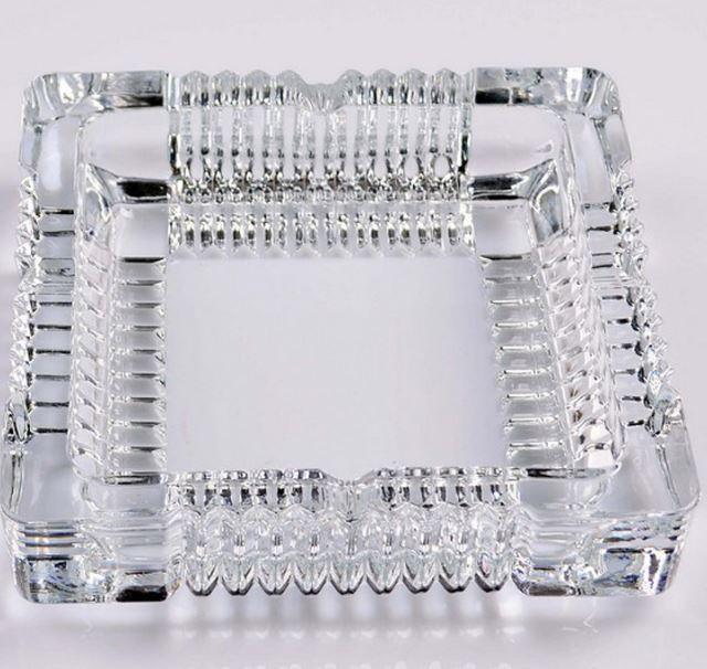 【省錢博士】厚實通透方形玻璃煙缸小齒輪煙灰缸辦公室客房客廳煙缸49元