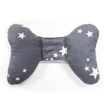 ★衛立兒生活館★ORGANIC FACTORY 護頸蝴蝶枕-灰底白星星