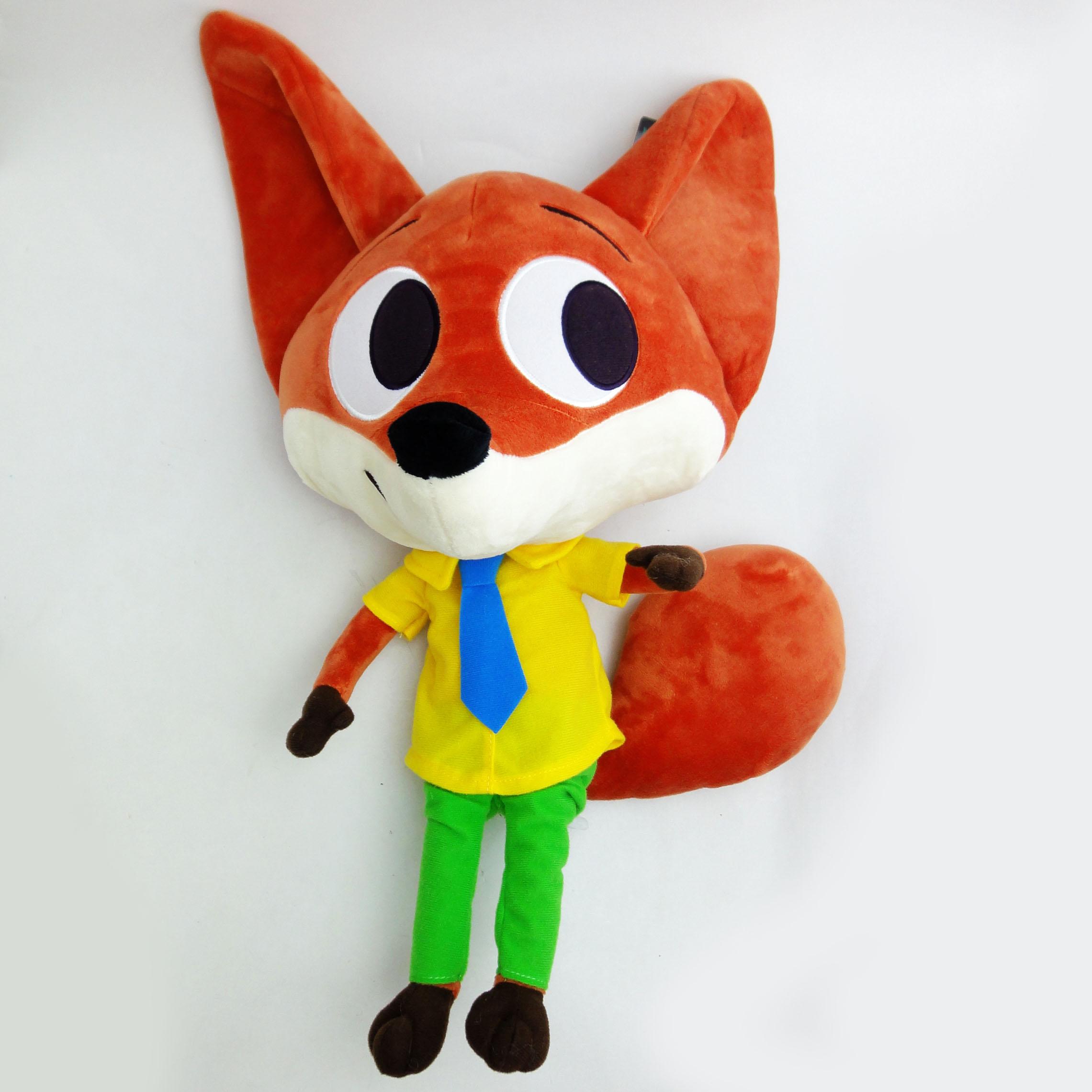 【UNIPRO】迪士尼 動物方城市 Zootopia 胡 尼克 Nick Q版 帥氣 狐狸 赤狐 玩偶 55公分 絨毛娃娃