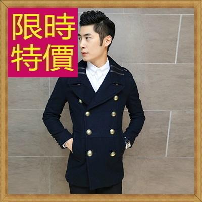 毛呢外套 男大衣-羊毛保暖短版男風衣62n14【韓國進口】【米蘭精品】