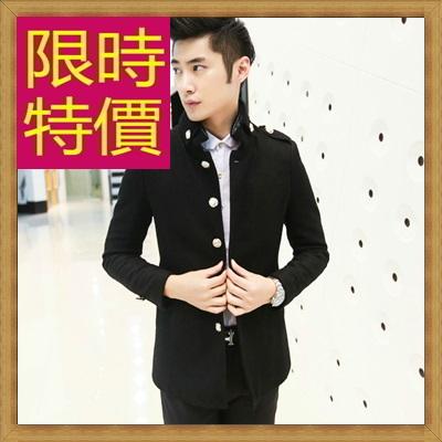 毛呢外套 男大衣-羊毛保暖短版男風衣2色62n39【韓國進口】【米蘭精品】