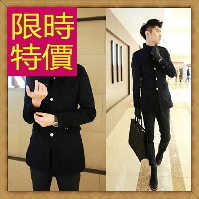 毛呢外套 男大衣-羊毛保暖短版男風衣2色62n63【韓國進口】【米蘭精品】